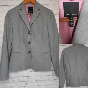 The Limited grey suit jacket size 2